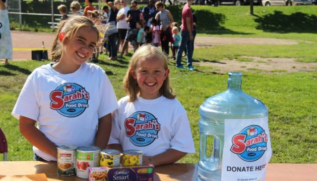 Sarah and Claire Food Drive photo